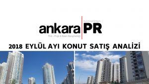 Ankara PR Ankara'nın 2018 Eylül Ayı Konut Satış Analizini Yaptı