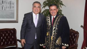 Vali Topaca, Büyükelçi Agzamkhodjaev'u Kabul Etti