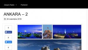 Romanya'nın Haber Sitesi; 'Türk Sermayesinin Mabetleri, Ankara'da'
