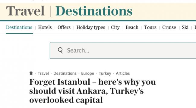 The Telegraph; 'İstanbul'u Unutun, Ankara'yı Gezin'