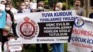 6284 nolu yasa mağdurları Ankara'da açıklamalar yaptı