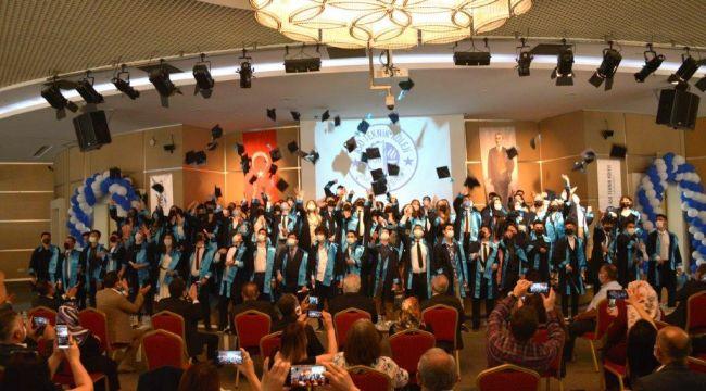 ASO teknik koleji'nde mezuniyet sevinci