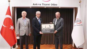 Kıbrıs Türk sanayi odası başkanından ATO'ya ziyaret