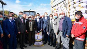 Altındağ Belediyesi'nden çiftçiye tohum desteği