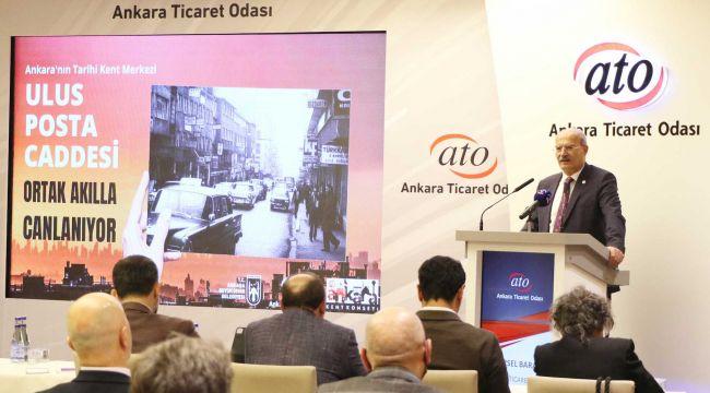 Ankara'daki tarihi ulus post caddesi yenilenecek