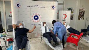 OSİAD ailesinden kan bağışı